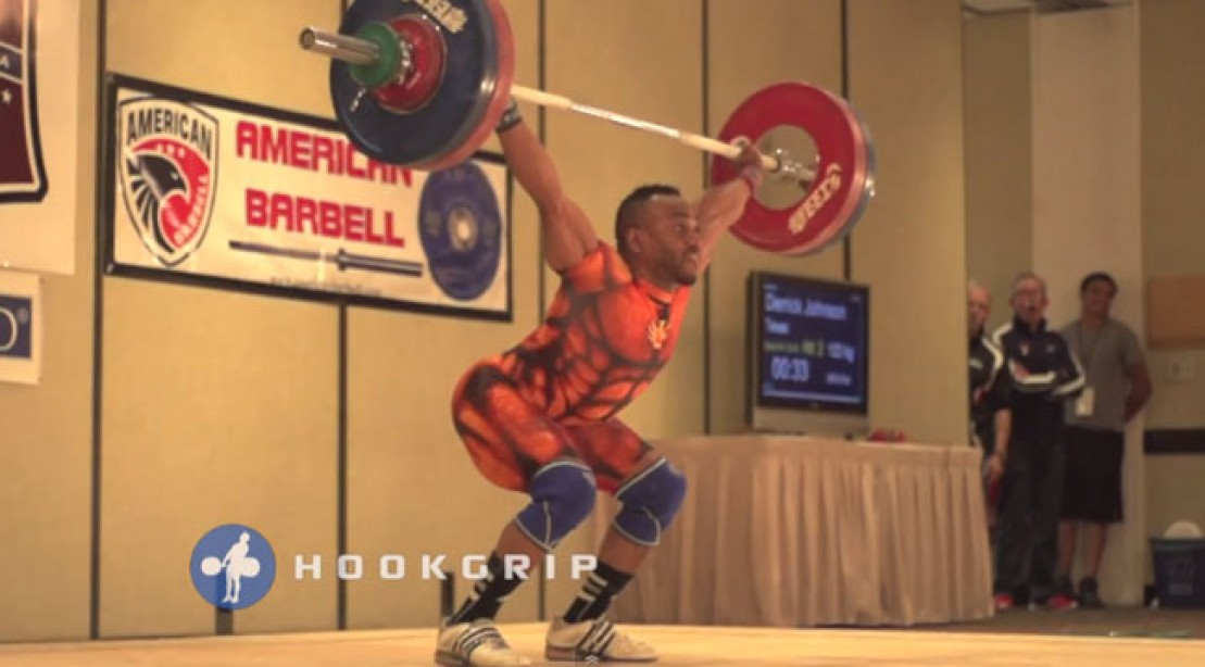 Derrick Johnson Sets New US Snatch Record
