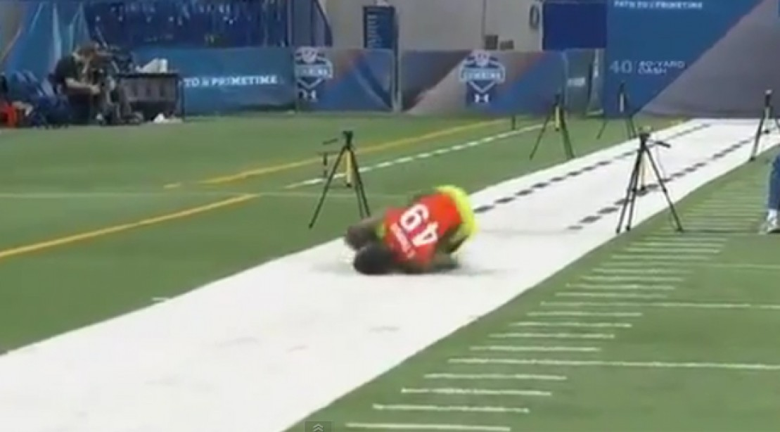 Epic Face Plant During NFL Combine