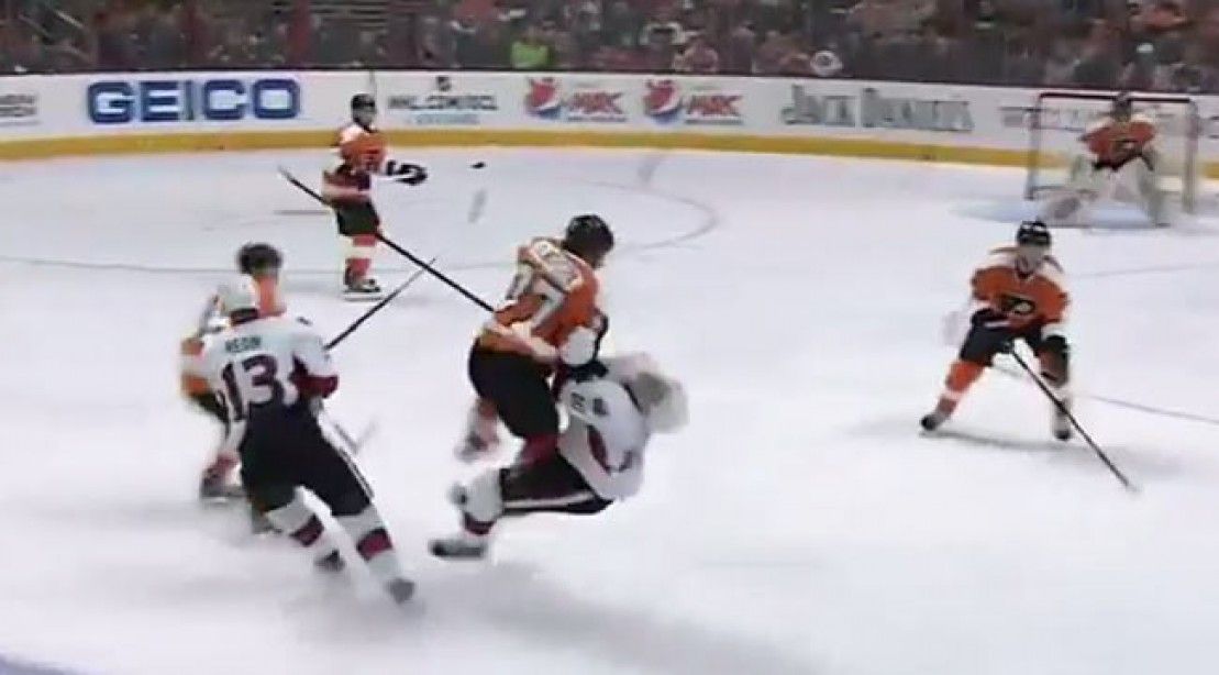 Massive Hit During NHL Game