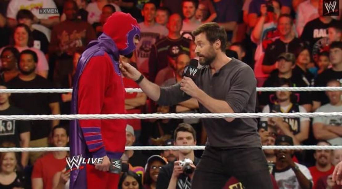 Hugh Jackman Appears on WWE Raw