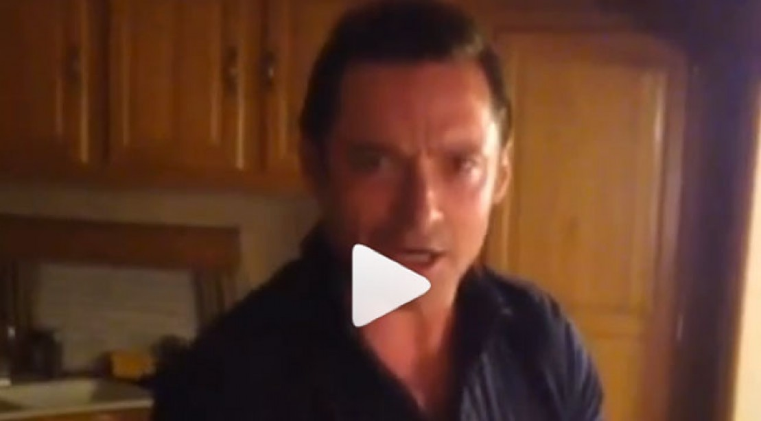 Hugh Jackman Does Pushups for Fresh Water Campaign
