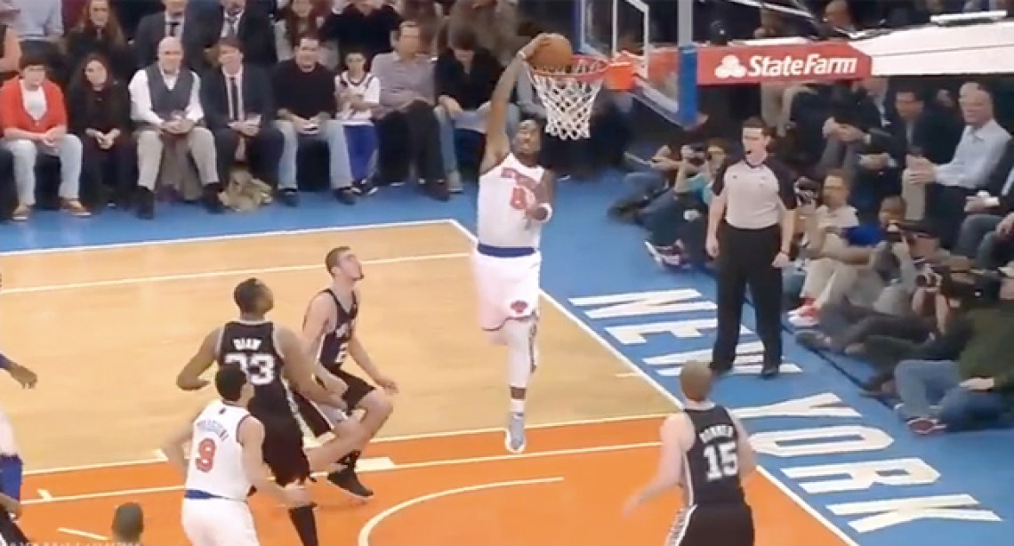 Check Out J.R. Smith's Awesome Reverse Alley Oop!