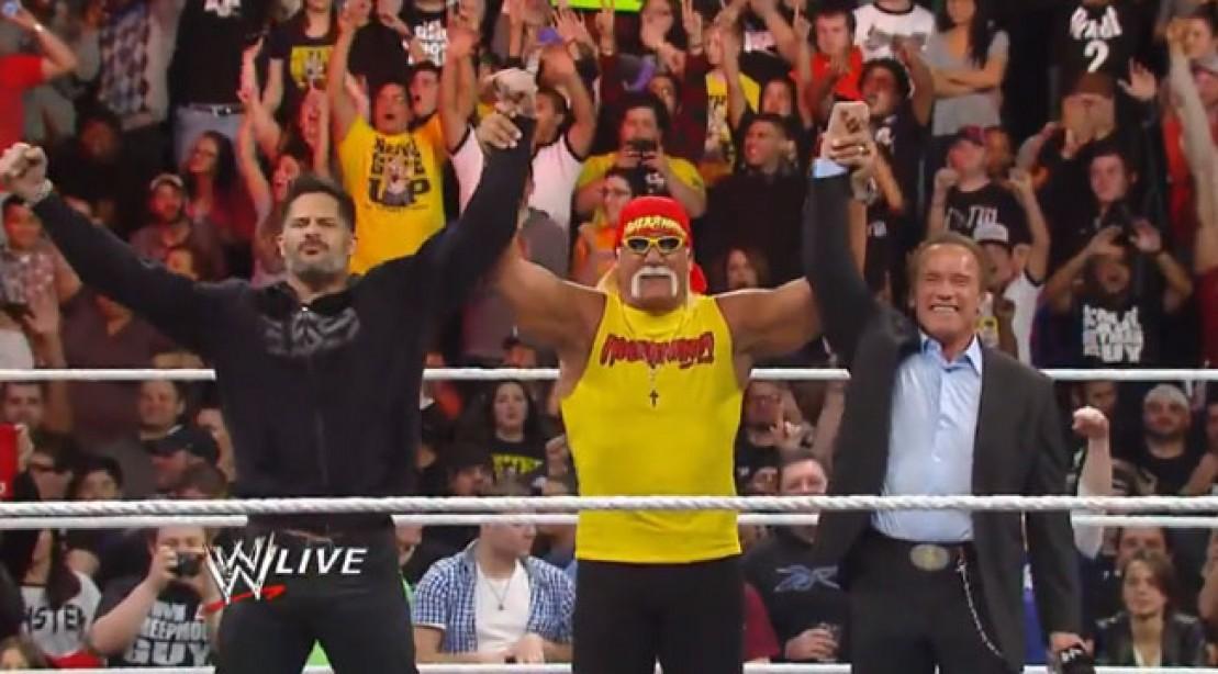 Arnold and Joe Star WIth Hulk on WWE Raw