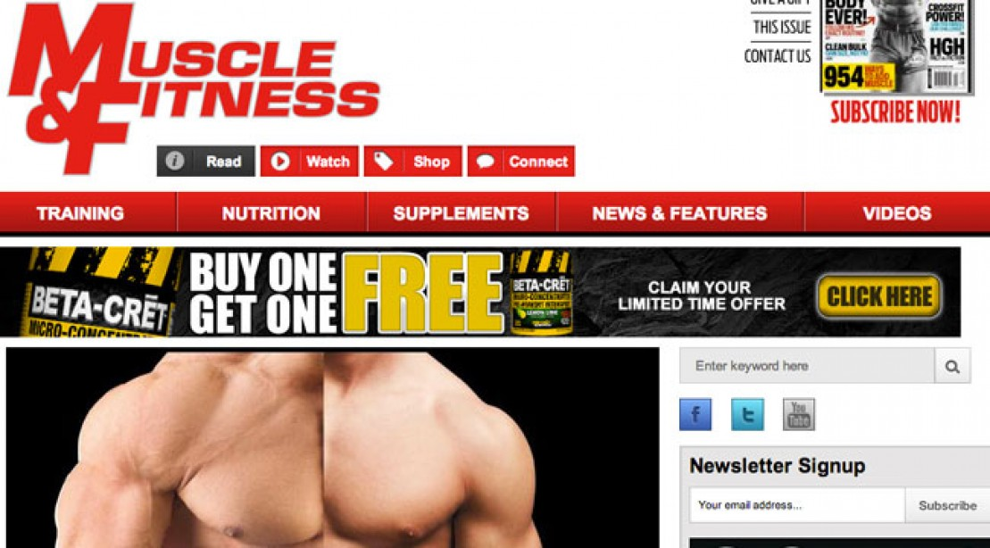 What do you think of the new Muscleandfitness.com?