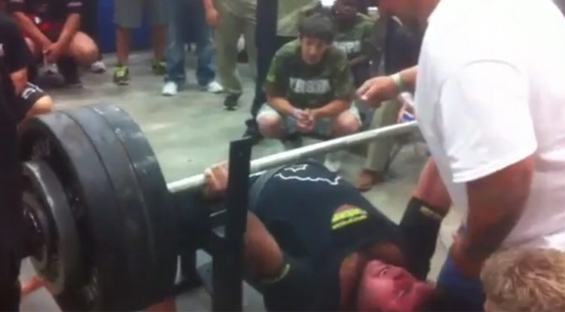Texas High School Kid Benches 700 Pounds
