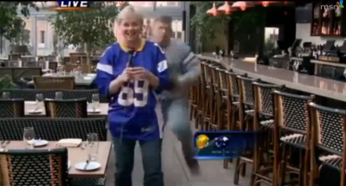 Minnesota Reporter Takes Hit On Live TV