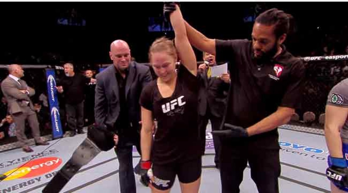 TKO Win For Rousey over McMann at UFC 170