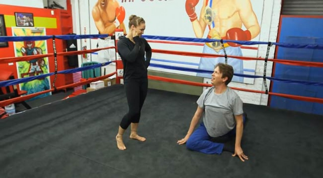 Ronda Rousey and Pete Holmes