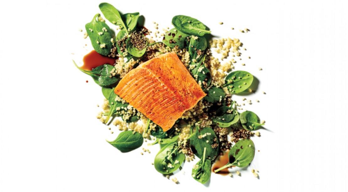 Balsamic Salmon Quinoa Salad