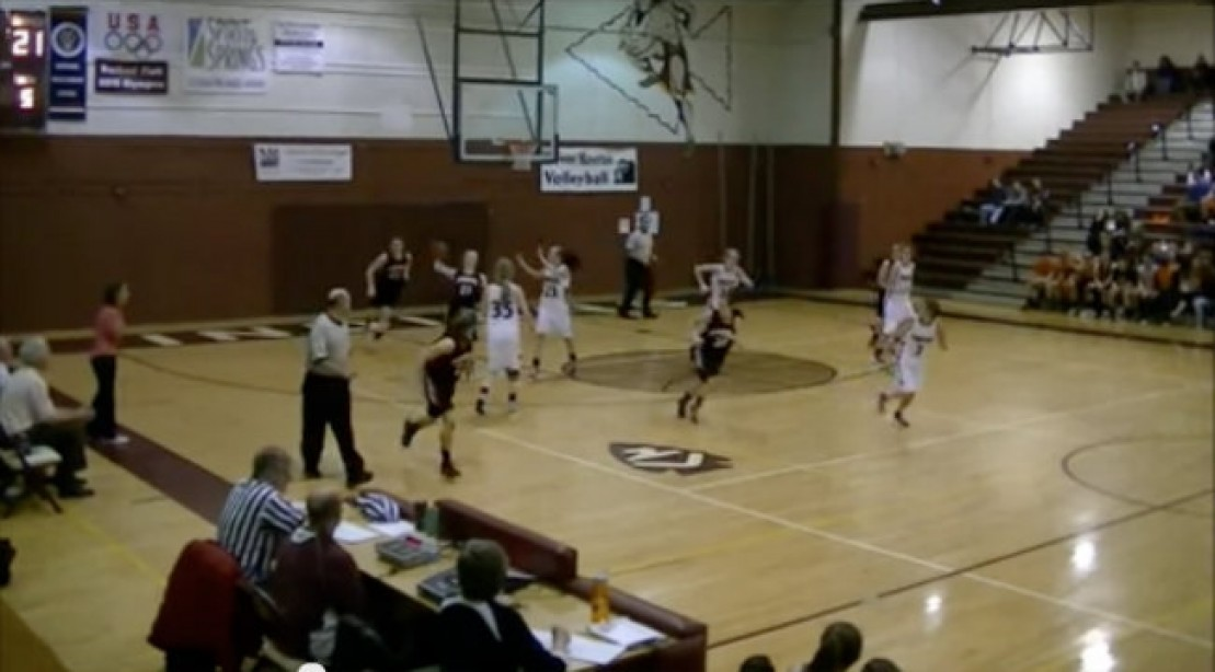 Incredible Basketball Shot During Game
