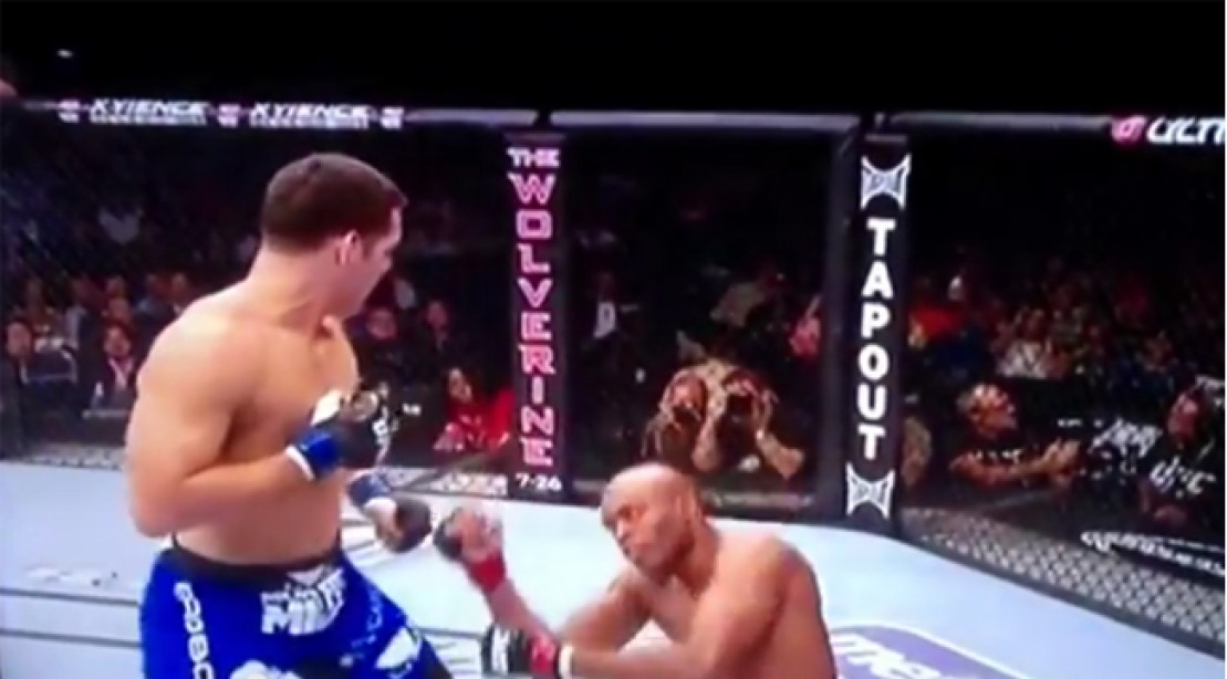 Showboating UFC Champ Silva Knocked Out by Weidman