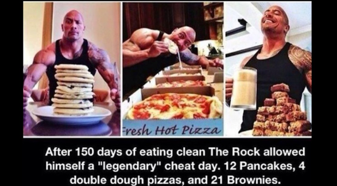 Competitive Eater Tries The Rock's Epic Cheat Meal