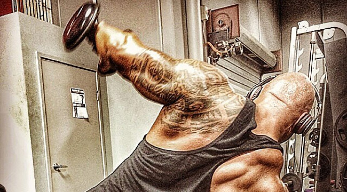 It's Shoulder Day for The Rock!