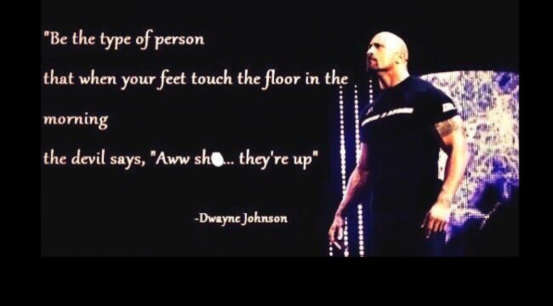 Motivation Time From The Rock