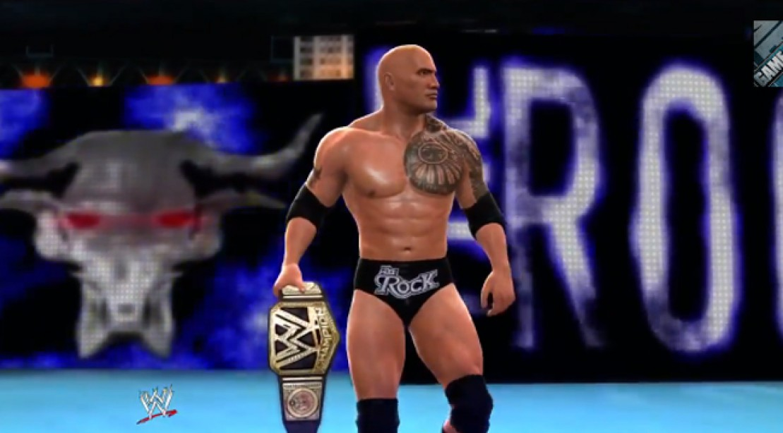 The Rock in the teaser for 2K's WWE 2K14 video game.