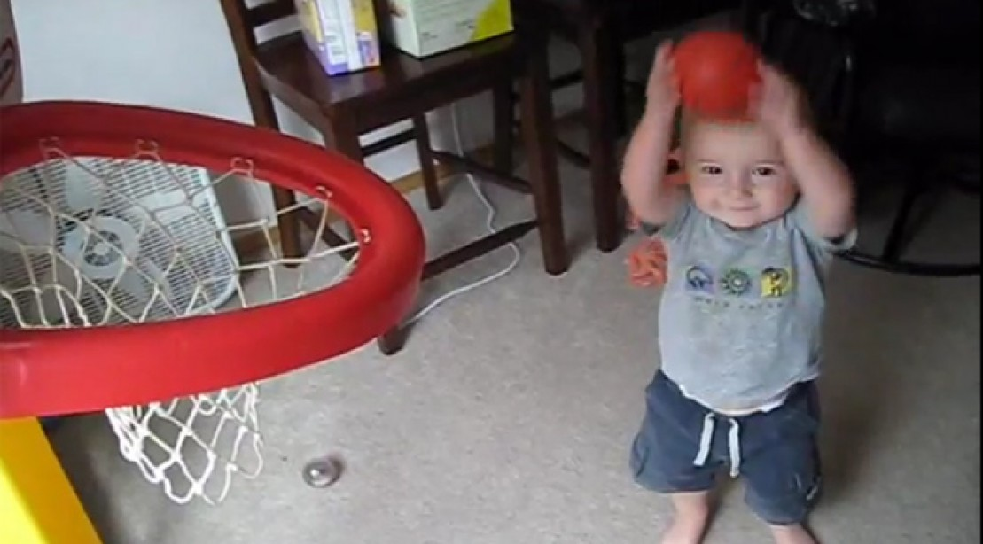 Toddler Wows With Incredible Basketball Skills
