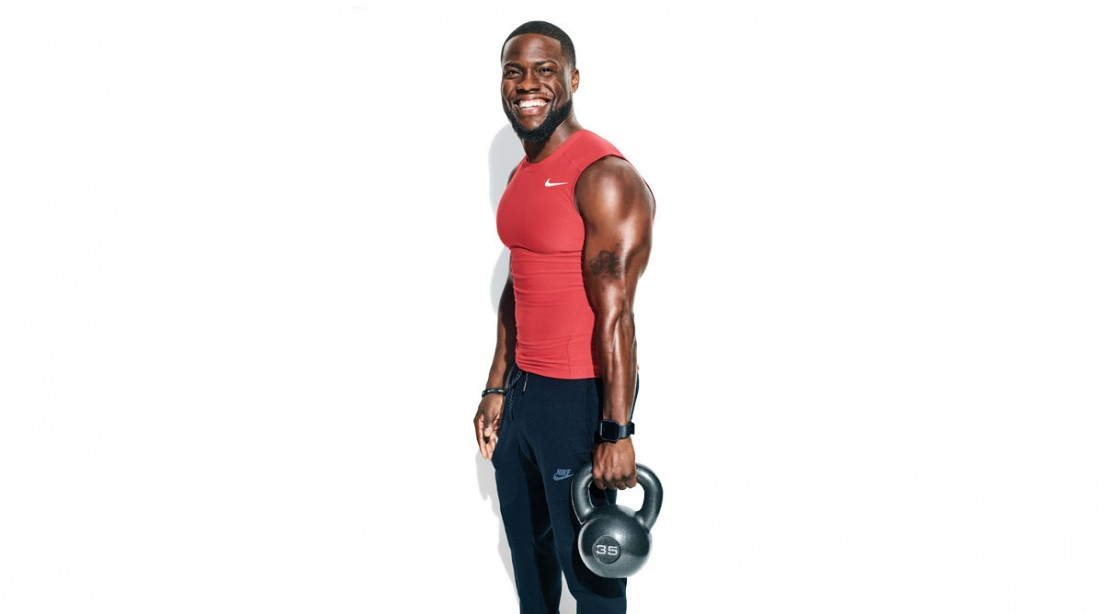 Kevin Hart with Kettlebell