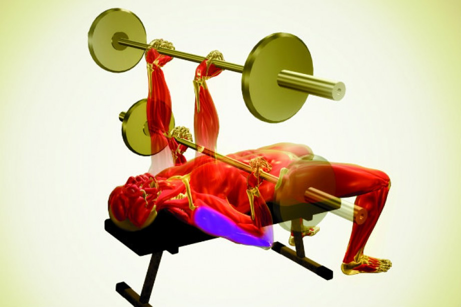 chest exercises - reverse-grip bench press