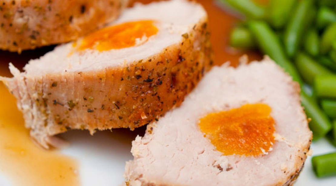 protein foods: apricot-stuffed pork loin recipes