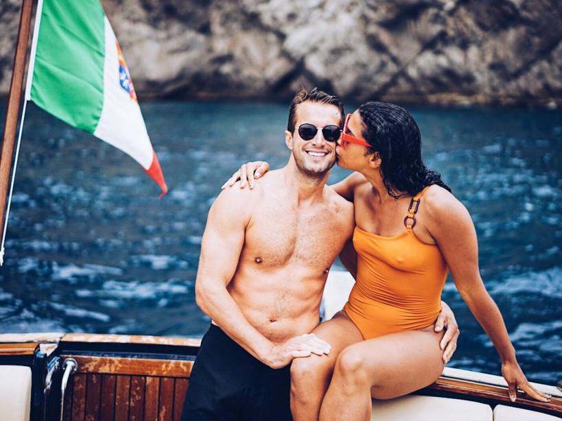 Brendan Fallis with wife Hannah Bronfman