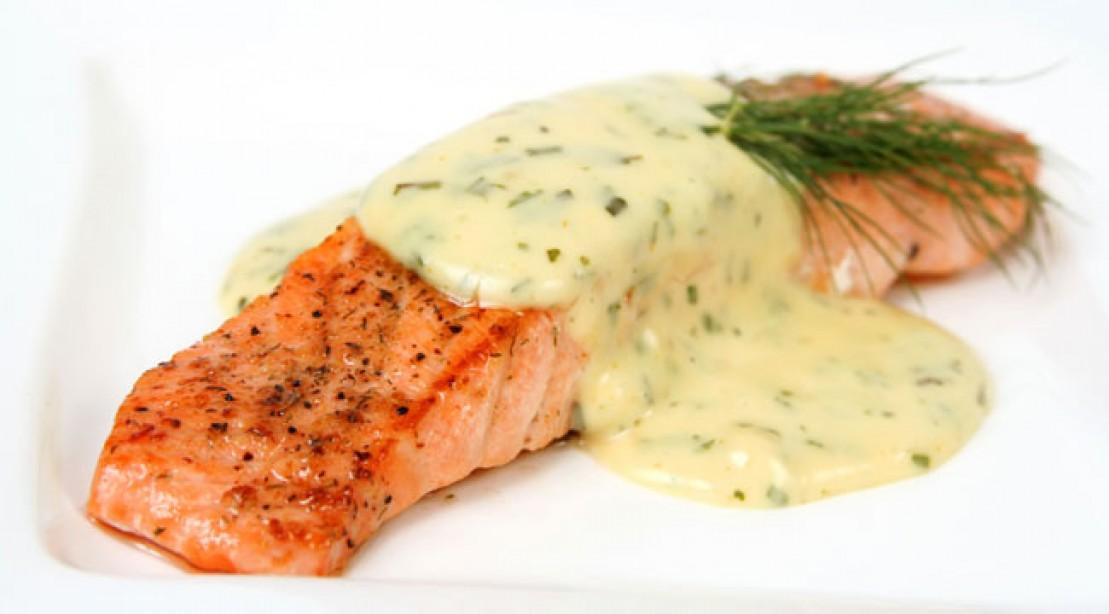 Broiled Salmon Recipe With Spiced Yogurt Sauce