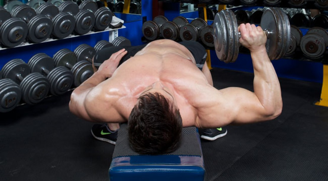 Go Unilateral to Fire Up Your Dumbbell Press