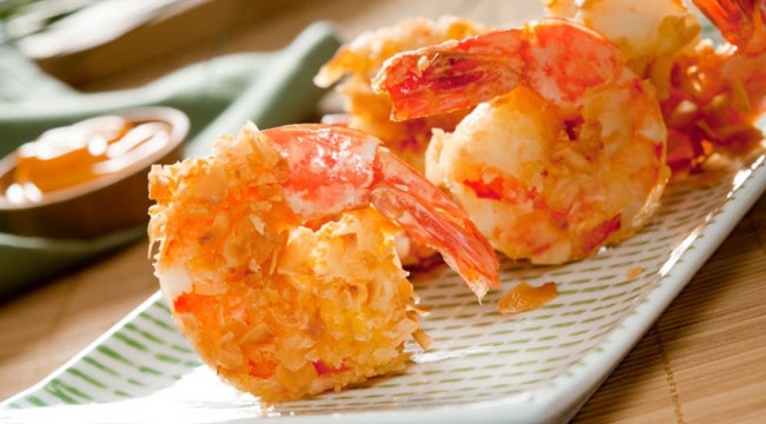 healthy, low-carb coconut shrimp recipe