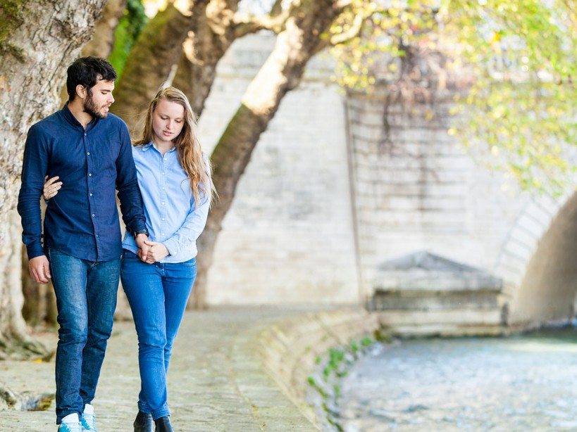 Couple by River