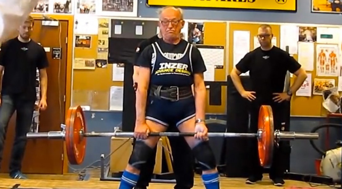 91 Year Old Bad Deadlifts 286 Pounds