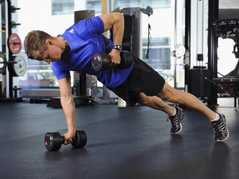 Dumbbell Renegade Rows