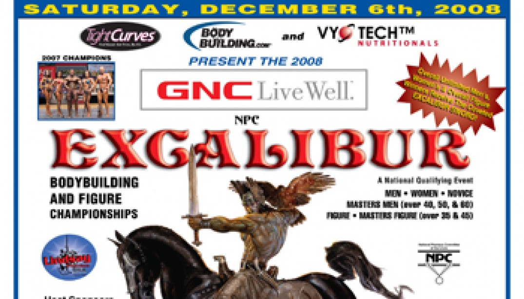 2008 EXCALIBUR SET FOR SATURDAY