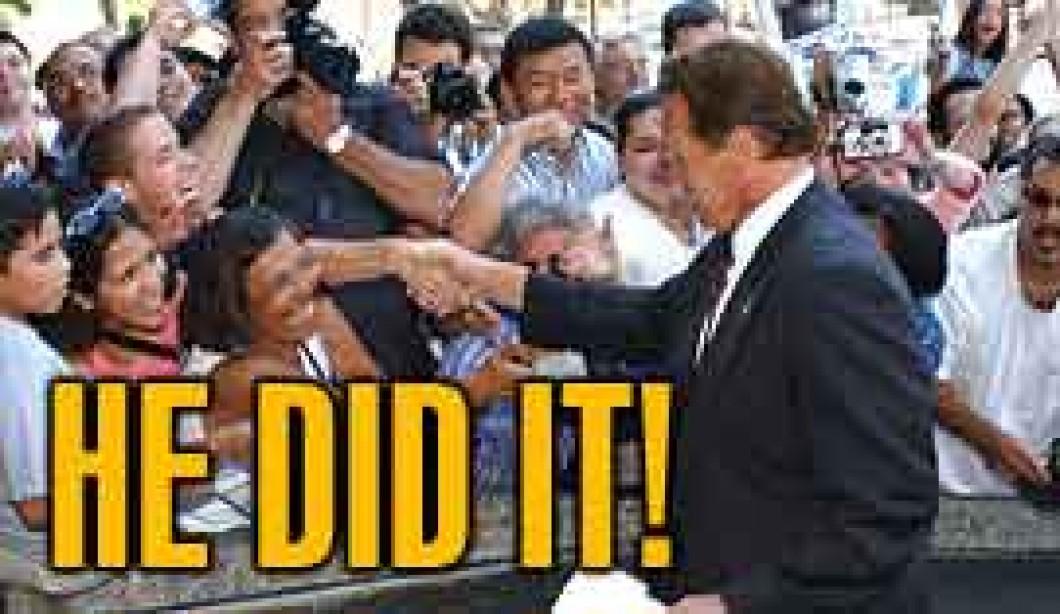 Arnold wins in a landslide