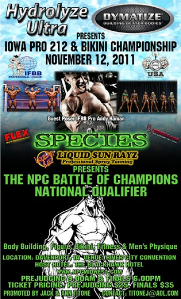 THE IFBB COMES TO IOWA!