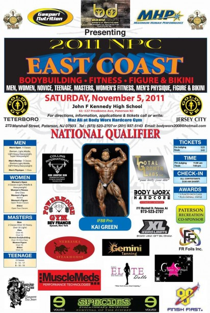 2011 NPC EAST COAST-Saturday November 5th