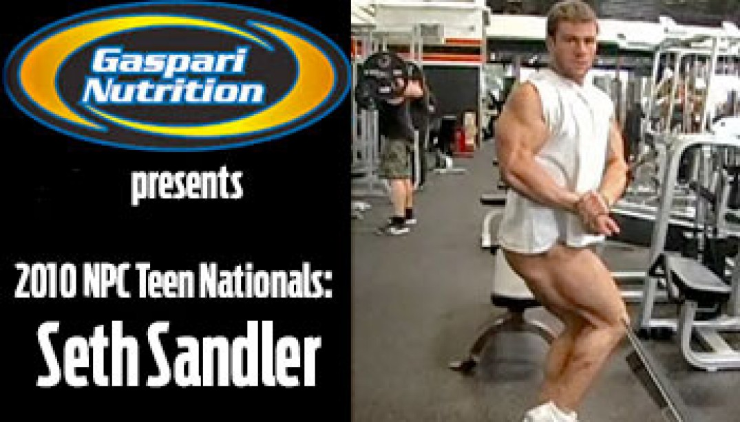 VIDEO: SETH SANDLER PREPS FOR '10 TEEN NATIONALS