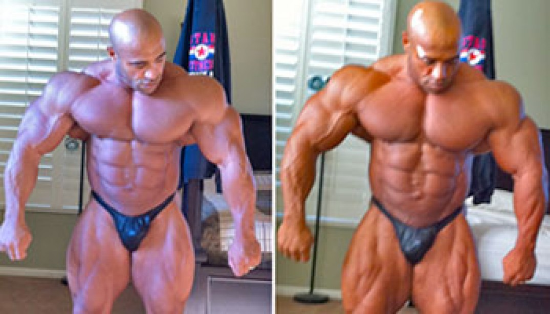 PHOTOS: DENNIS JAMES 5 & 3 WEEKS OUT FROM 2010 MR. EUROPE