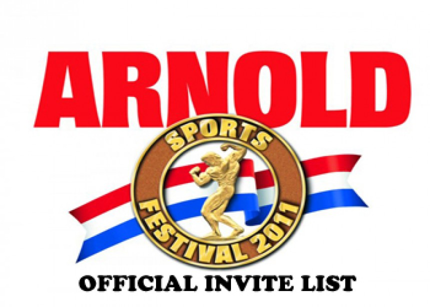 2011 Arnold Classic Invites Announced!