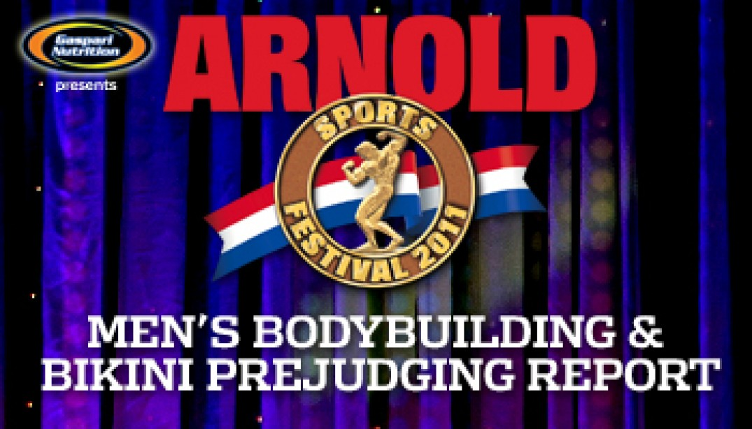 MEN'S BODYBUILDING AND BIKINI PREJUDGING REPORT