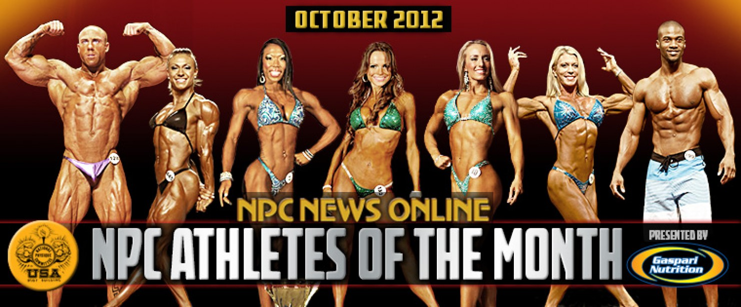 NPC and Gaspari Announce Oct 2012 Athletes of the Month