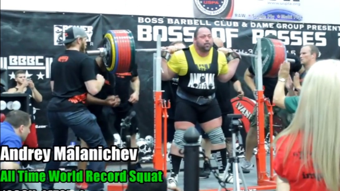 Andrey Malanichev Sets New World Record with 1,036 Pound Squat