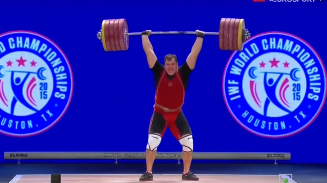 Aleksey Lovchev Breaks Record at the IWF World Championships