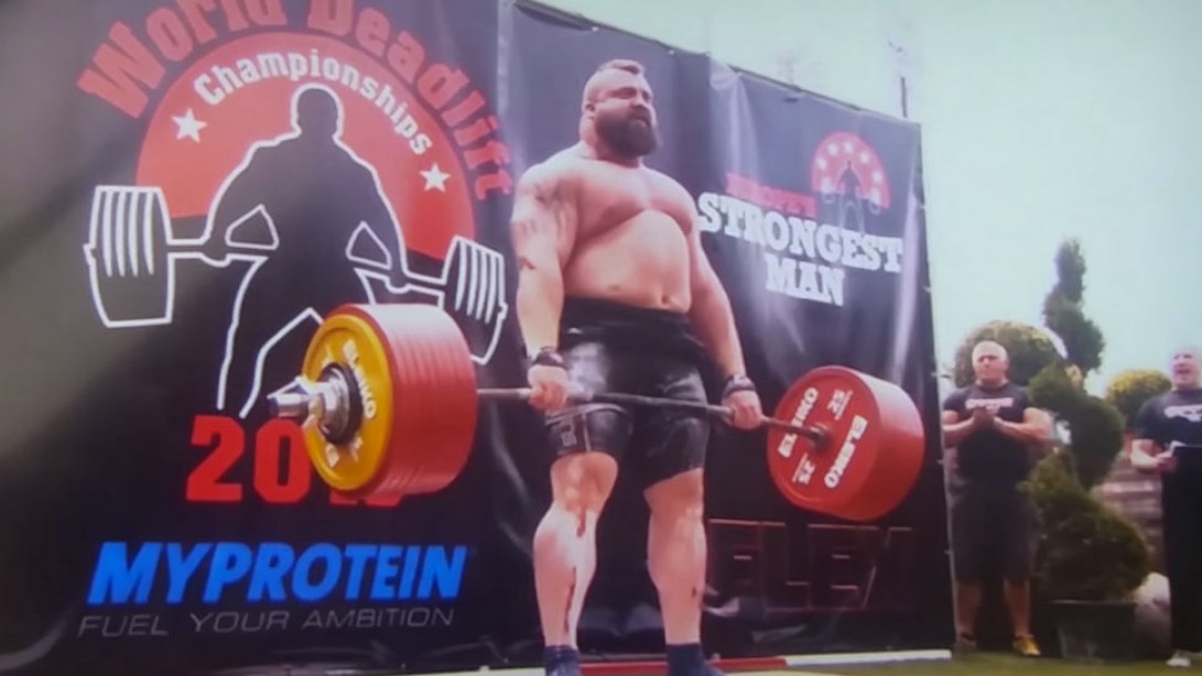 Eddie Hall Deadlifts 1,020 Pounds to Set New World Record