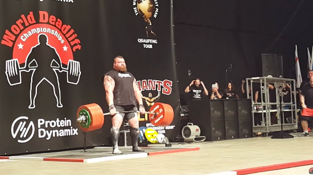 Eddie Hall Sets New Strongman Deadlift World Record of 1,102.31 pounds