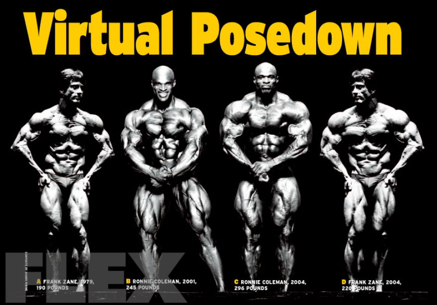 Virtual Posedown: Frank Zane vs. Ronnie Coleman