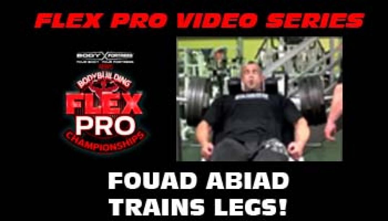 FLEX VIDEO: Fouad Abiad Trains LEGS!