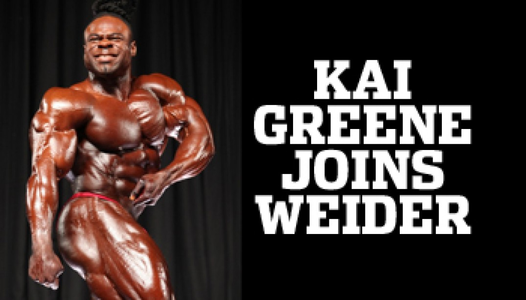 GREENE SIGNS WITH WEIDER