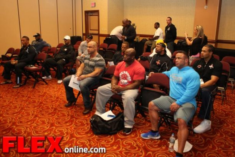 The Athletes Check in at the 2013 Mr. Olympia 212 Meeting