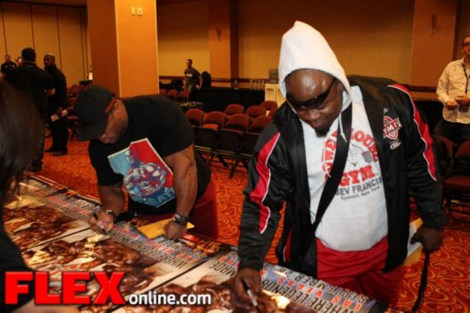 The 2013 Mr. Olympia Athlete Meeting