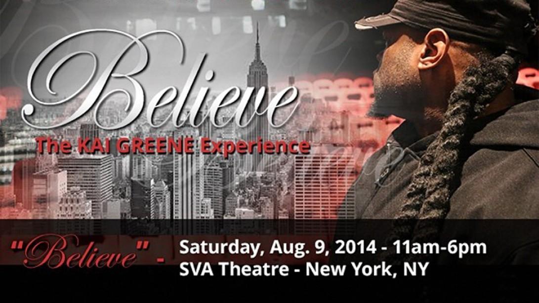 """Believe"", the Kai Greene Experience"