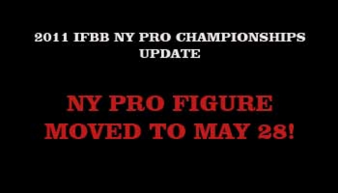 IFBB NY PRO FIGURE ADDED TO THE NY PRO IN MAY